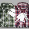 供应时尚修身百搭两色格子长袖衬衫 太平果休闲衬衫